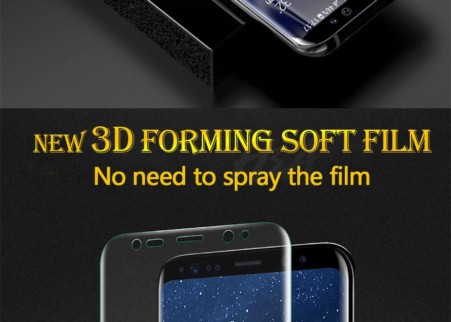 شاشة 3D منحني لينة حامي للحصول على سامسونج غالاكسي Note9 S9 S8 بالإضافة إلى ملاحظة 8 S7 حافة غطاء كامل حامي السينمائي ليس الزجاج المقسى