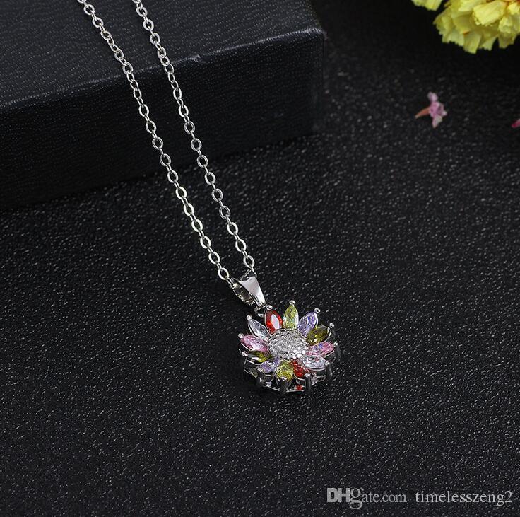 Coreia do estilo sorte guirlanda pingente de colar com corrente de clavicular de cristal do dia dos namorados presentes agradáveis navio livre