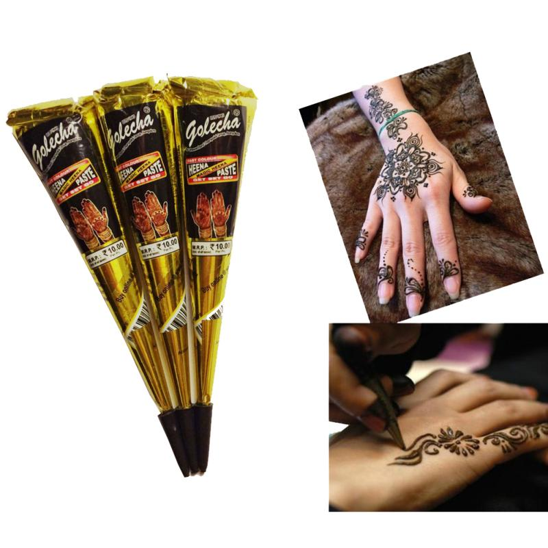 25g Body Art Paint High Quality Mini Natural Indian Tattoo Henna Paste for  Body Drawing Black Henna tattoo A3