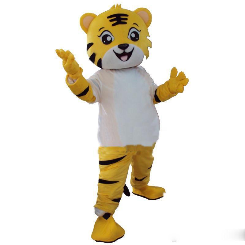 2018 Hochwertige Tiger Maskottchen Kostüm Tier Cartoon Kostüm Erwachsene Größe