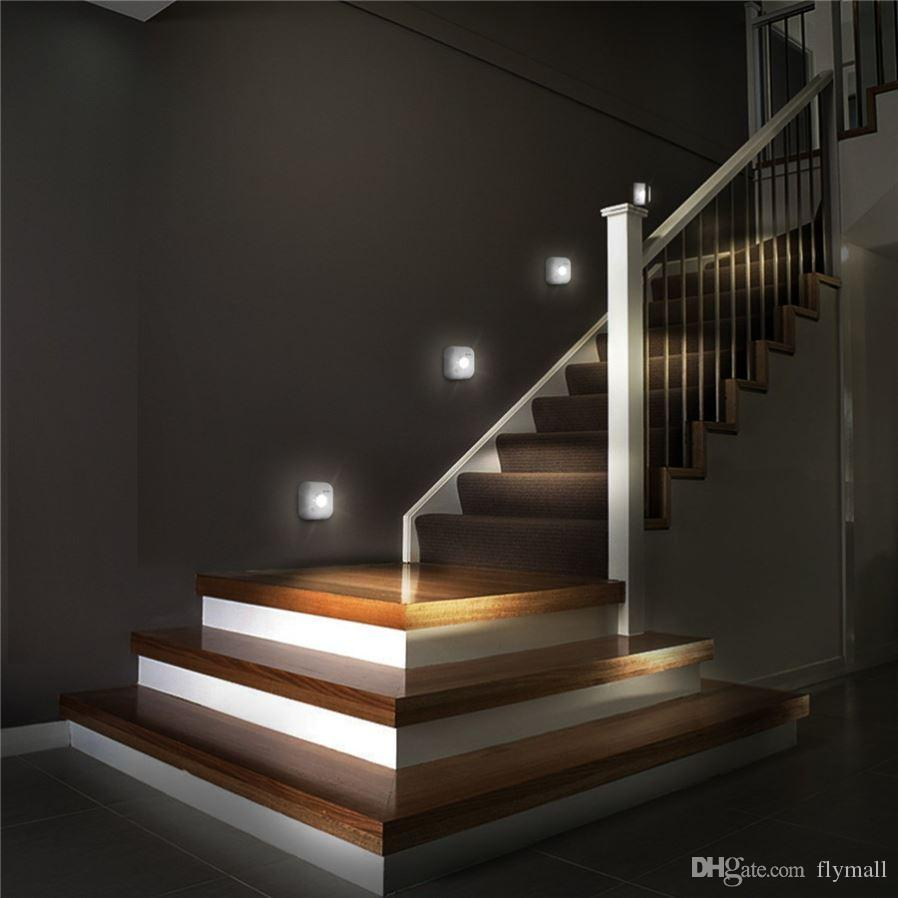 LED Sensor Night Light Dual Induction PIR Infrared Motion Sensor Lamp Magnetic Infrared Wall Lamp Cabinet Stairs Light Porch Wall lamps