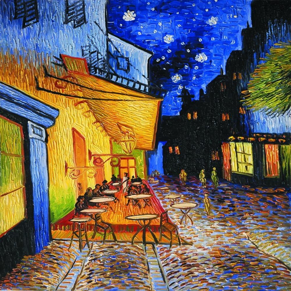 5d7aa8d6560 Cafe Terrace At Night By Vincent Van Gogh Wall Canvas Prints Oil Painting  Reproductions Street Scenes Landscape Art Picture Y18102209 Canada 2019  From Gou09 ...