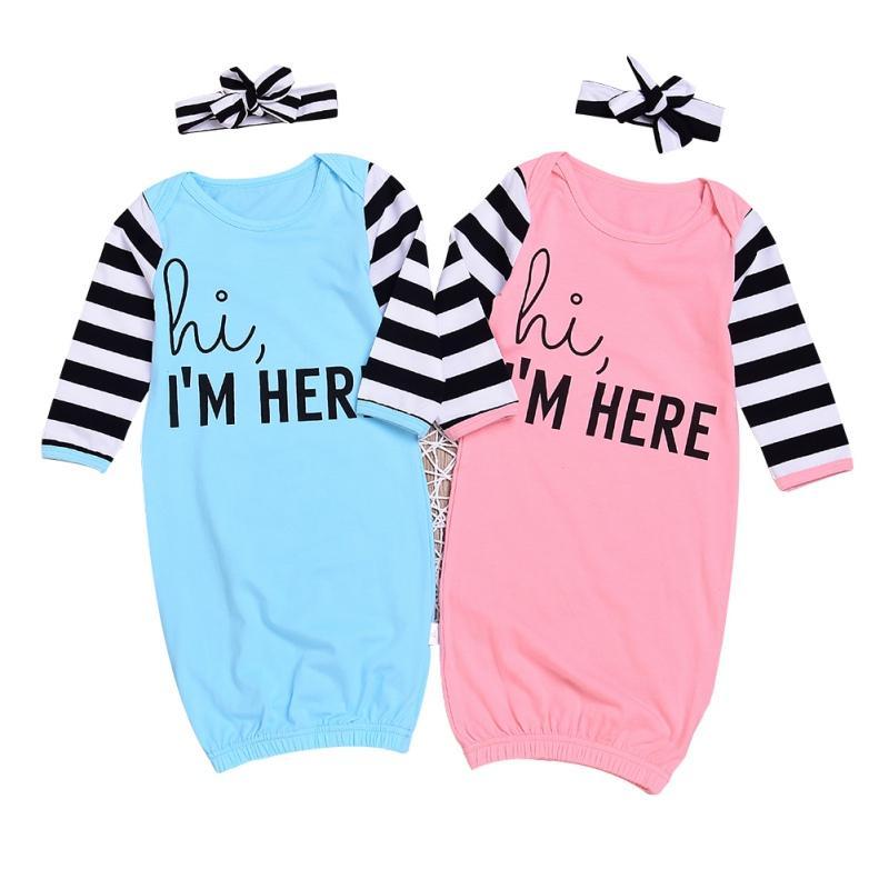 85e12ae532 Comfortable Sleeping Bag Cotton Long Sleeve Girl Anti Kicking Newborn Gowns  Sleepwear Pajamas Costumes With Headband Sleeping Bags For Girls  Personalized ...