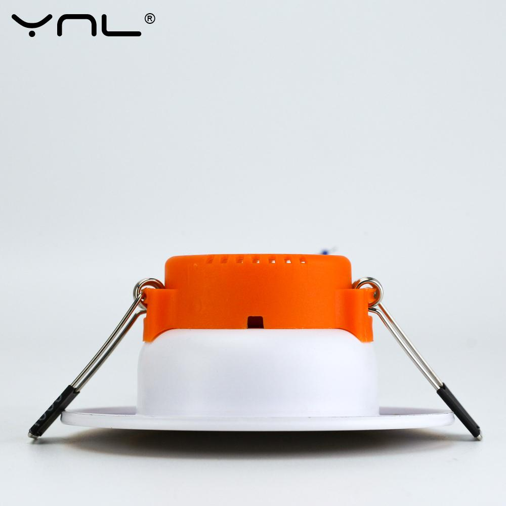YNL 3W LED Downlight Ceiling lamp Recessed Down light With Driver Changeable 3-Color Change Warm White Nature White Cool W