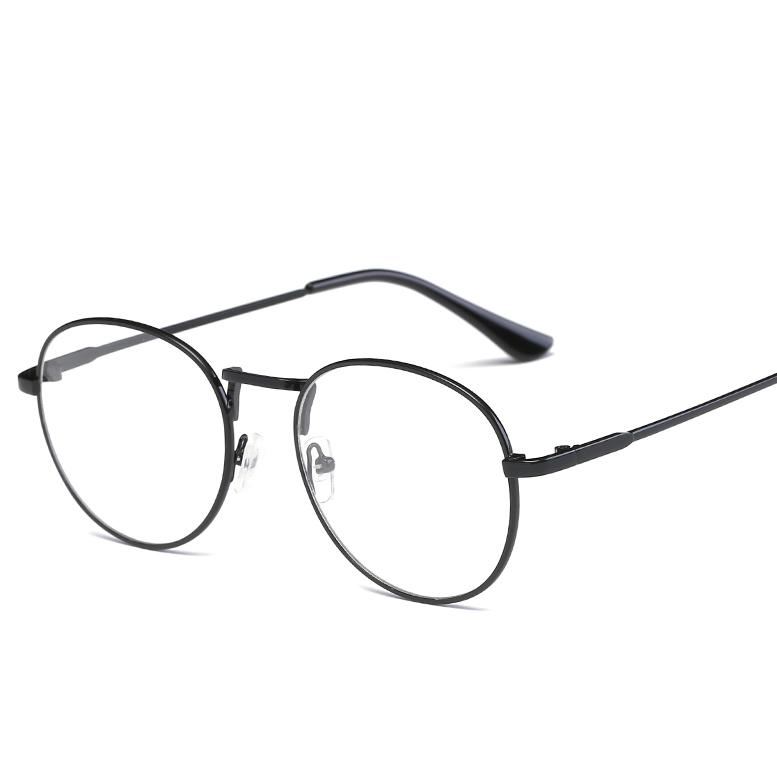 d361d31271982 2019 Transparent Lenses Thick Spectacles Fashion Round Glasses Pilot Flsat  Mirror Metal Frame Gold Silver Can Be Equipped With Myopic From Maocai