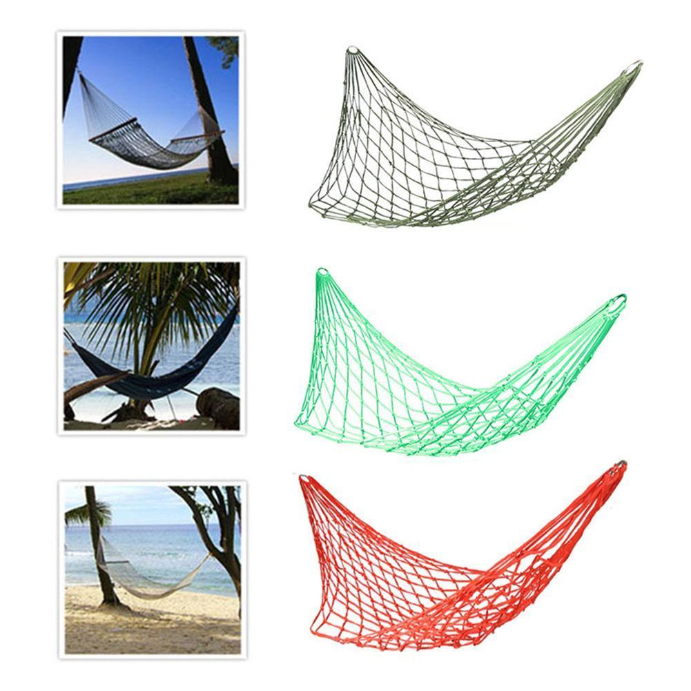 Sleeping Mesh Hammock Swing Sleeping Bed Hammock Hamaca Hamac Portable Garden Outdoor Camping Travel Furniture Nylon Bed Hangnet Buy One Get One Free Camping & Hiking Camp Sleeping Gear