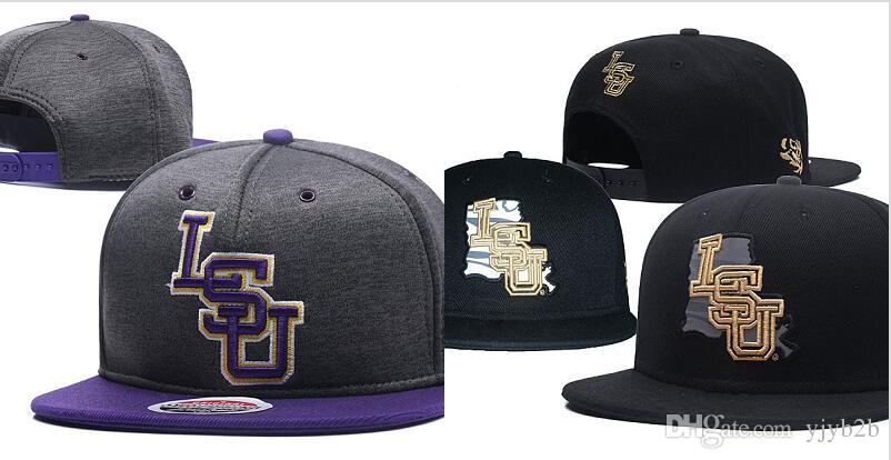 save off 74232 374a9 ... coupon code for wholesale mens lsu tigers gray color ncaa snapback hats  usa college letter logo