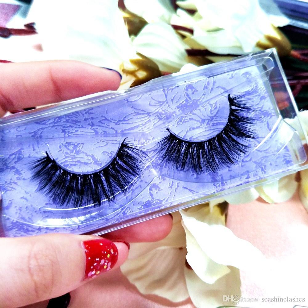 Seashine 3D Real Mink Eyelashes Logo personalizado / Luxury Box With Top Mink Lashes Maquillaje Belleza Hecho a mano EyeLashes Extension