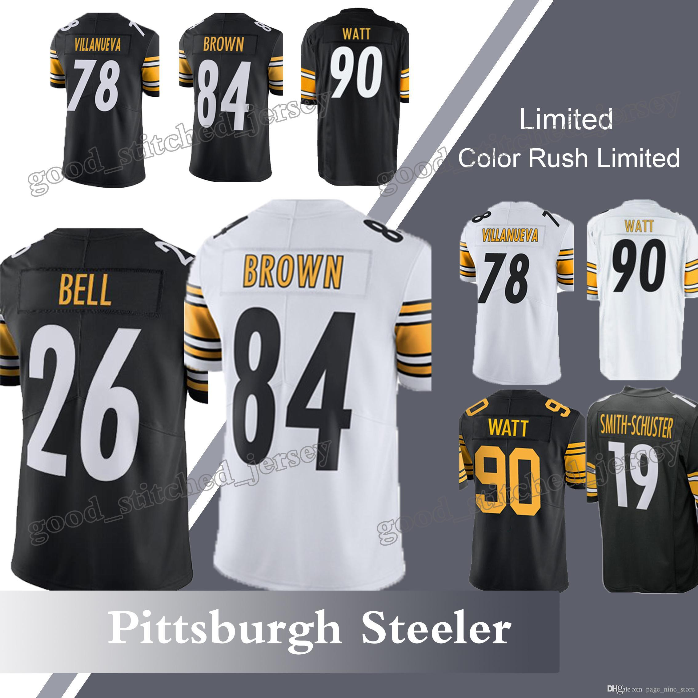 507749622 get nike antonio brown pittsburgh steelers limited black color rush jersey  youth ce1c6 b177b  inexpensive 2018 pittsburgh steeler 26 leveon bell 84  antonio ...