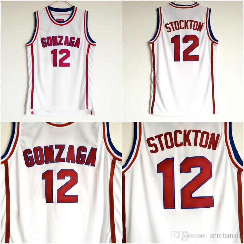 2019 Gonzaga Bulldogs Basketball Jersey High Quality 12 John