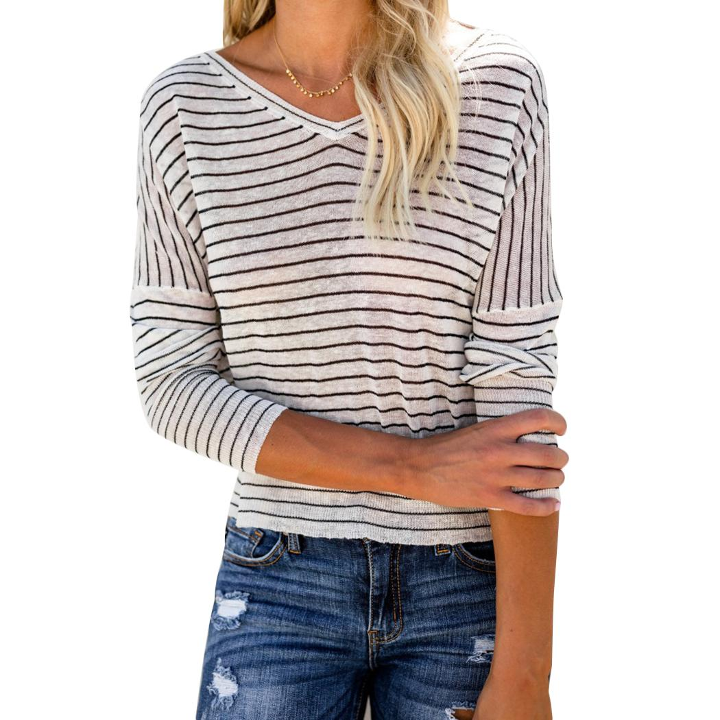 bb29179497d6dd Women Long Sleeve T Shirts New Hot Sale T Shirt Womens Fashion Harajuku  Striped Female Tops Femme Lady Shopping T Shirt Online Cool T Shirt Sites  From ...