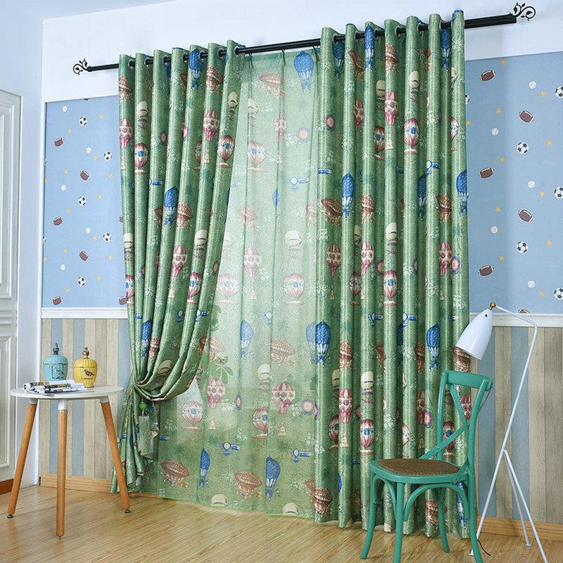 2018 Pastoral Style Hot Air Balloon Garden Printing Blackout Curtain For  Living Room Childrenu0027S Cartoon Curtains For Bedroom Kitchen From  Kunnylight, ...