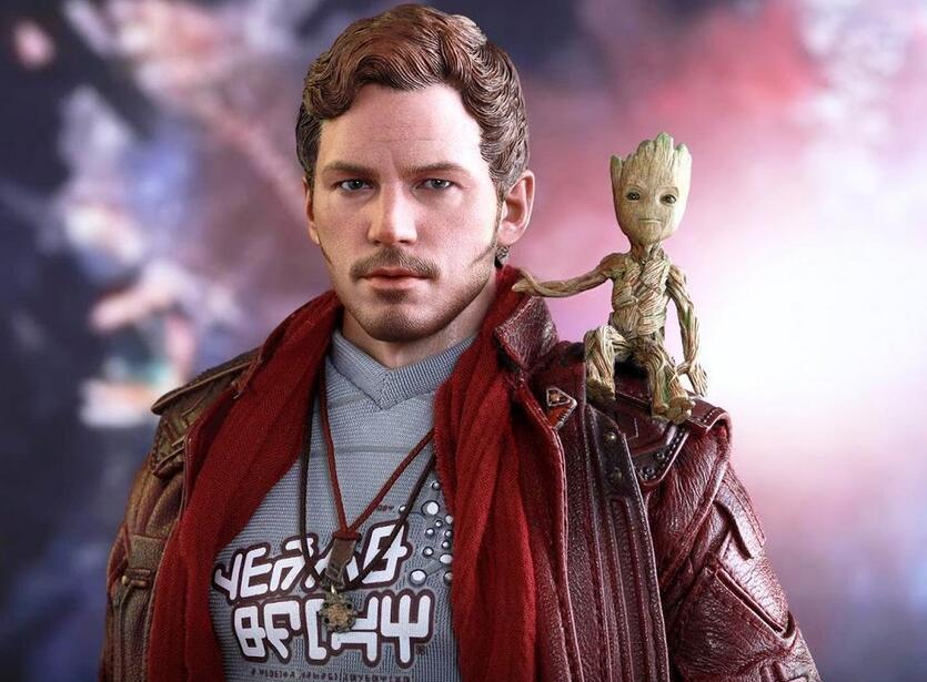 2017 Guardiani della Galassia VOL.2 Star Lord Ciondolo collana e bavero Peter Quill Supereroe Cosplay Movie Jewelry