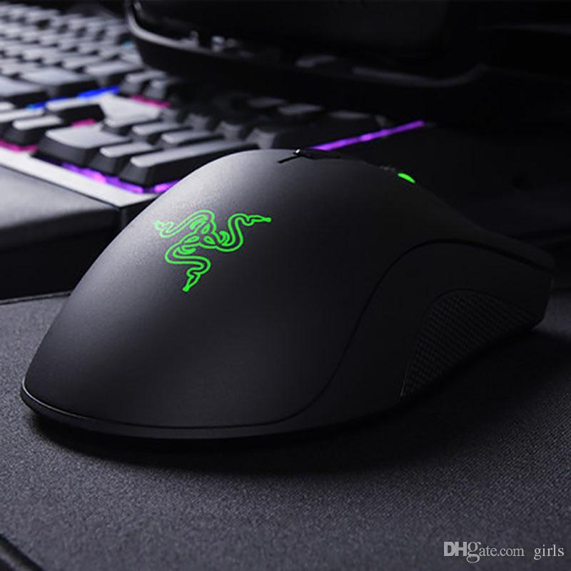 Razer DeathAdder Chroma Spiel-Maus-USB-Kabel 5 Tasten optische Sensor-Maus Razer Gaming-Mäuse mit Kleinpaket