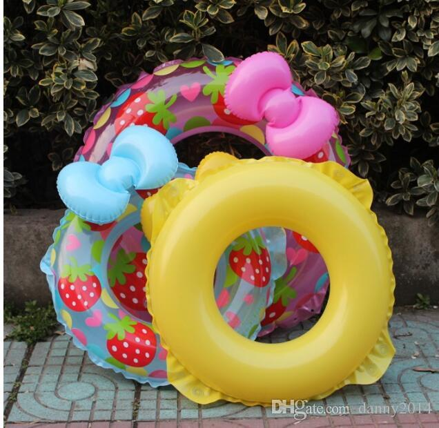 70cm inflatable baby floats swim pool floating strawberry swimming rings infant kids Butterfly swimming tubes bath beach toy