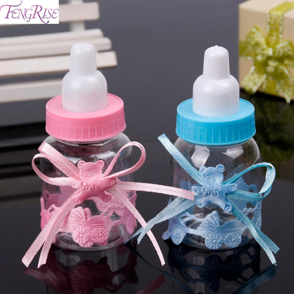 Fengrise Baby Shower Baptism Candy Box Baby Feeding Bottle Birthday