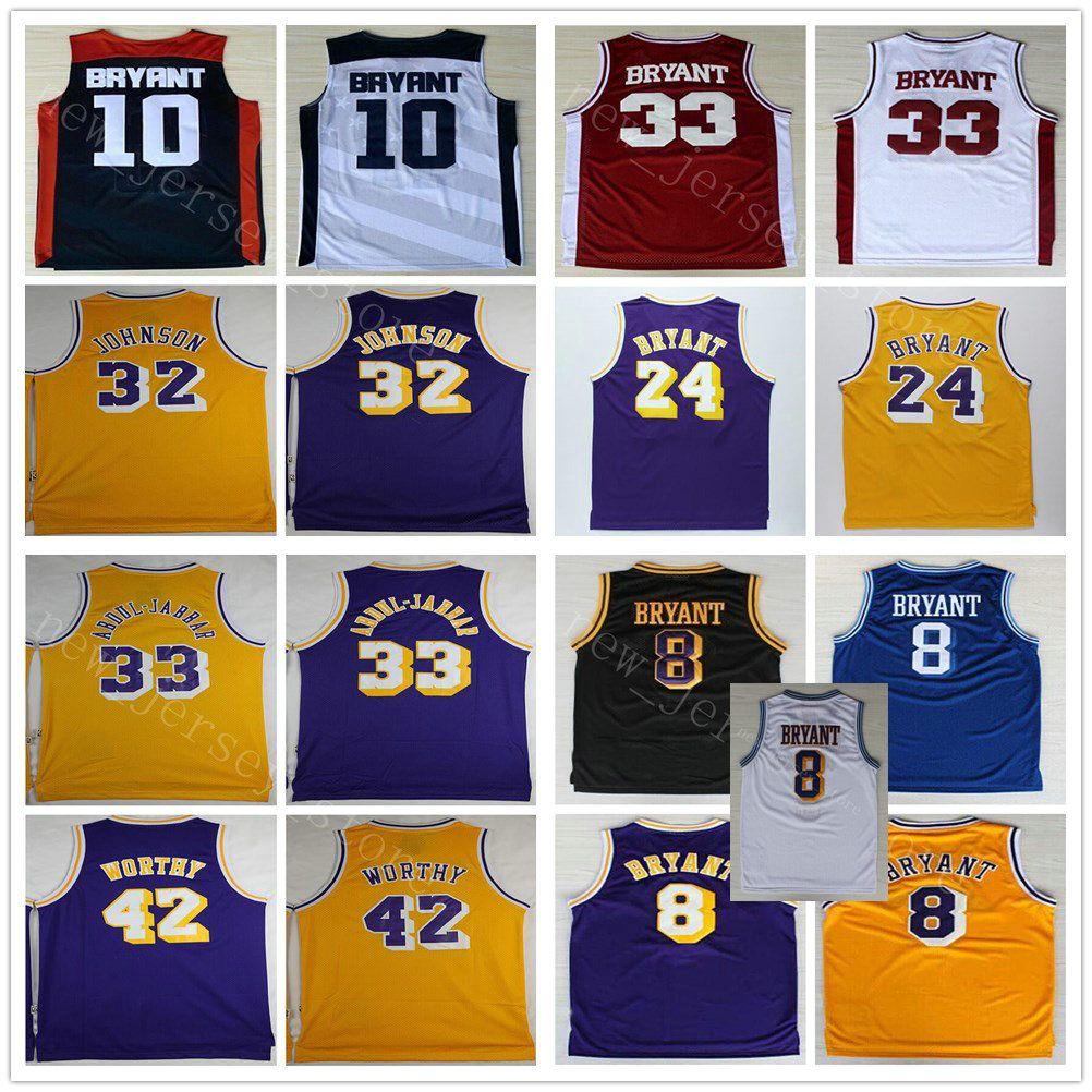 40fcc444735 ... promo code 2018 ncaa college basketball 32 magic johnson jerseys  stitched retro yellow 33 kareem abdul