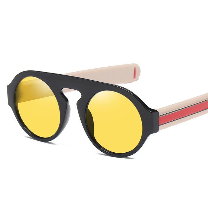 e03e1c517f Vintage Round Sunglasses Women Brand Designer Retro Red Green Sun Glasses  Oversized Clear Yellow Shades Unisex Eyewear 2018 New Sunglasses For Women  Cat Eye ...