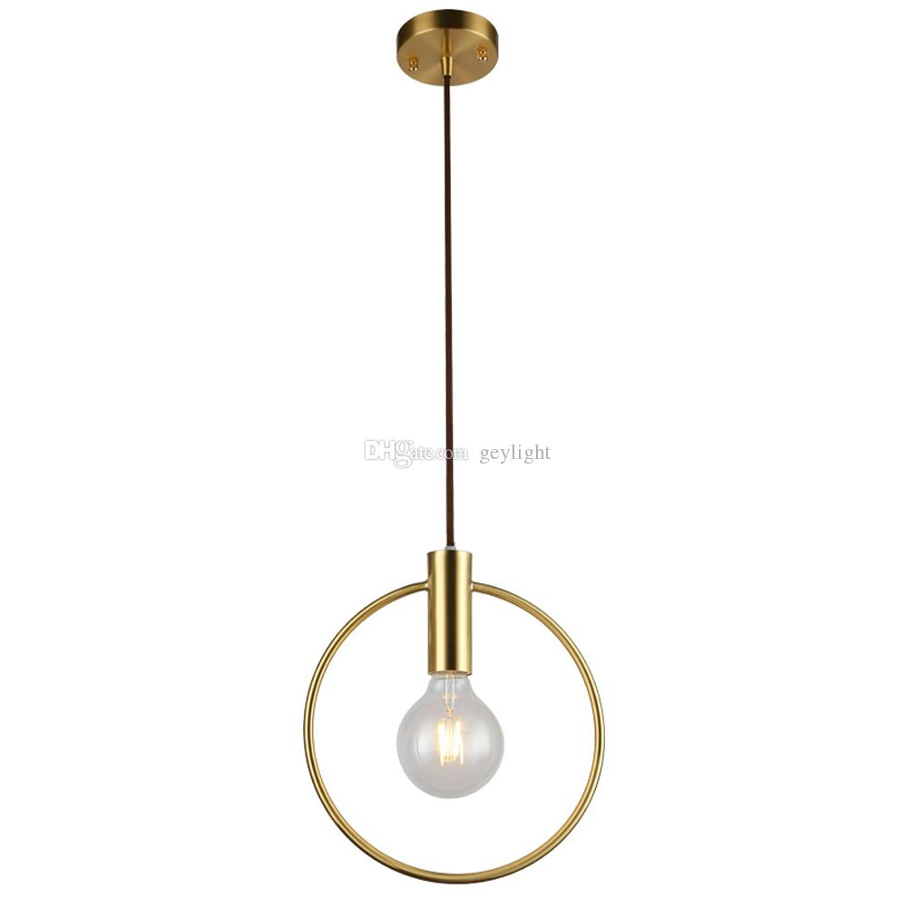 Wholesale gold chandelier light fixtures lustre for lobby dining room single ring arts decoration lighting antique candelabros decorativos lighting home