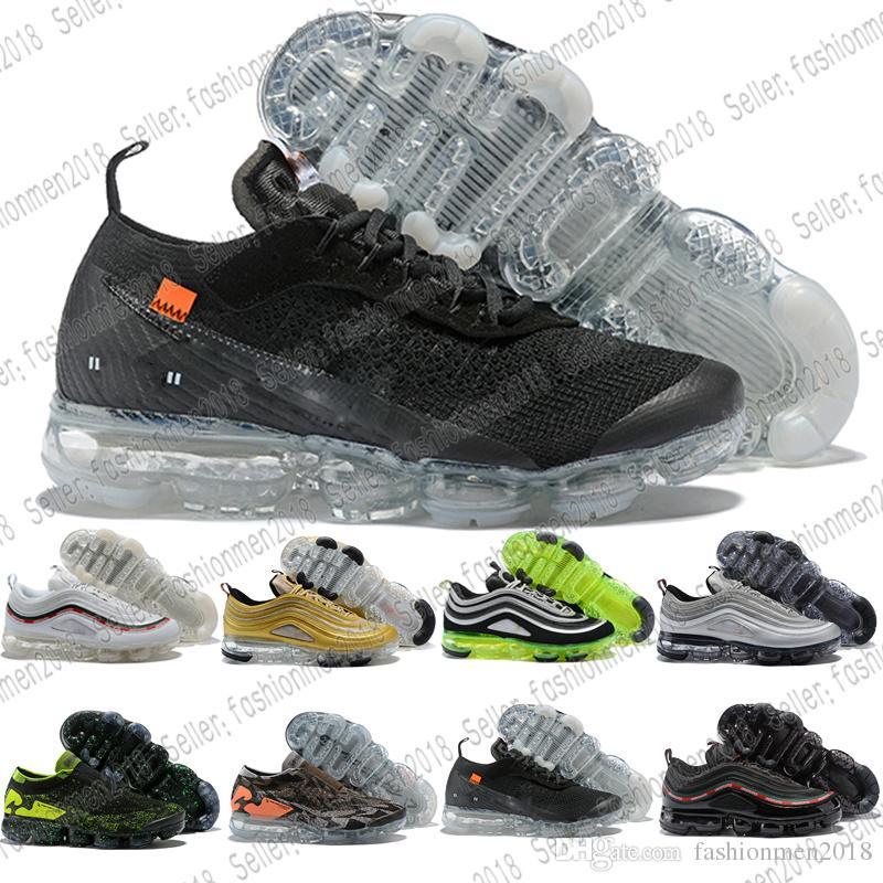 44356cc6c9c4 Newest Color 97 Men Shoes Air Cushion Silver Bullet Metallic Gold ...