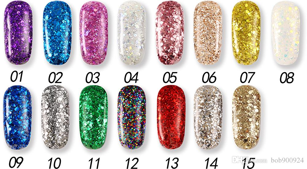 Wholesale-Nail Polish Gel UV and LED Bright Colorful Colors 6ML for KCE  Brand