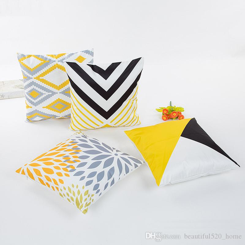 Soft Visoca Decorative Pillow Cases Fashion Geometic Throw Pillow Cases Bring Color Outdoor Cushion Covers BH012