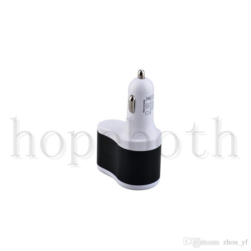 Universal 3.1A Dual 2 USB Ports Car Charger Cigarette Lighter Power Socket Charging Adapter for iphone 7 6s Samsung S7 HTC Blackberry