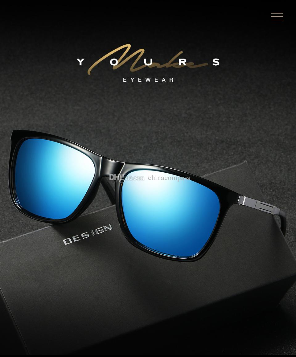 UV400 New Fashion Al-Mg legs Polarized Sunglasses flash Outdoor Eyewear Night vision Goggles Driving Fishing for Men A547