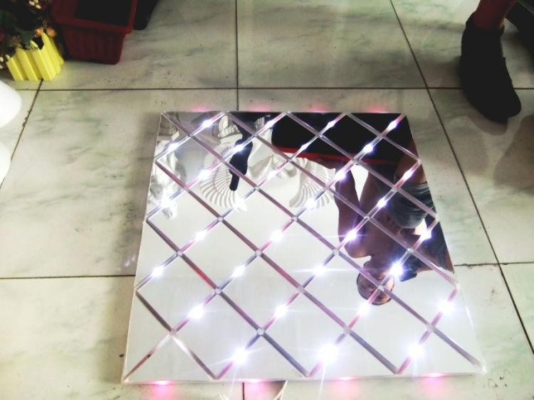 1 قطع 60 * 60 cm تألق led فلاش مرآة السجاد الممر عداء بار نادي الزفاف t محطة مرحلة الديكور الدعائم جديد وصول شحن مجاني
