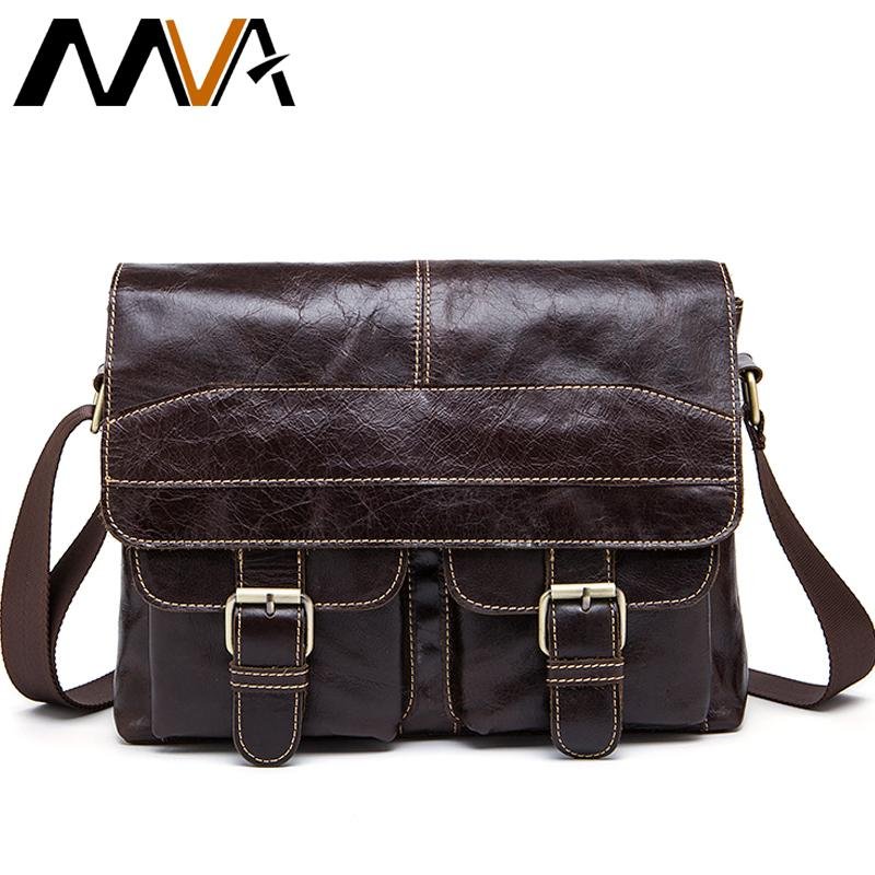 MVA Messenger Bag Men Leather Shoulder Bags Men S Crossbody Bags Small  Business Briefcases Shoulder Genuine Leather Men Bag 9880 Large Handbags  Black ... c29f4f547aa9c