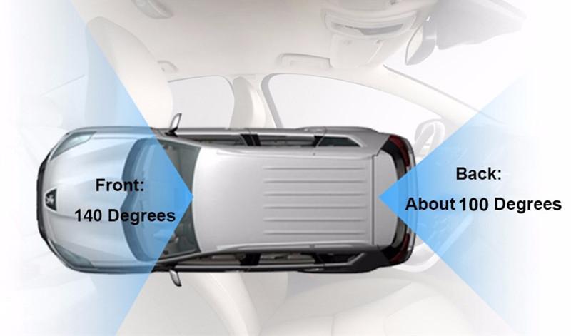 HD 1080P مسجل dvr السيارة digital video video video vehicle dashcam front 2ch super night vision G-sensor 3.7