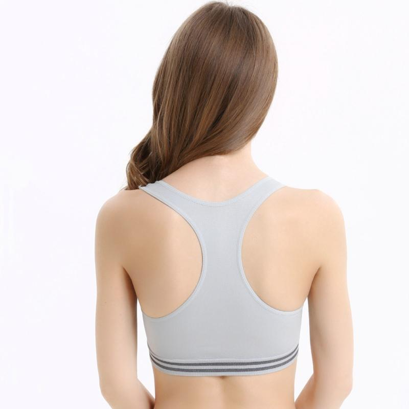 Hot Beauty Back Push Up Bra Breathable Cotton Thin Iner Cup Top Shockproof Sleep Bras Soutien Gorge Simple Comfortable Brassiere