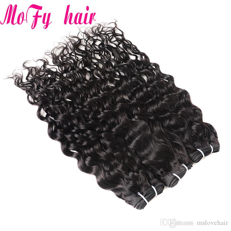 Brazilian Water Wave Hair Bundle 100g Human Hair Weave Bundles Remy Hair Bundle 10-28 inch Can Be Bleached Cheap Peruvian Weave