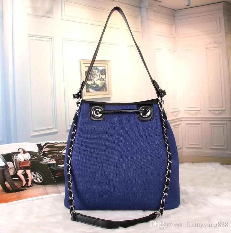 Luxury Handbags Women Bags Designer Canvas Drawstring Bucket Bag ... c696d9644bac9
