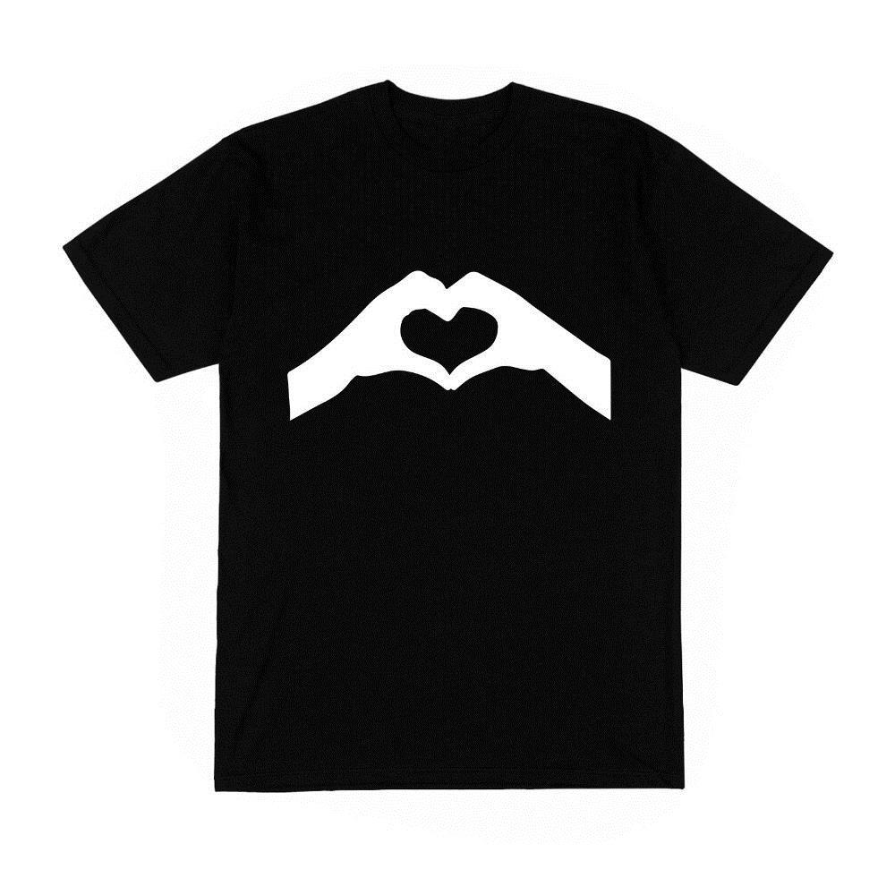 Print Own T Shirt Design | Print Own T Shirt Crew Neck Coeur Ombre Chinoise Amour Couple