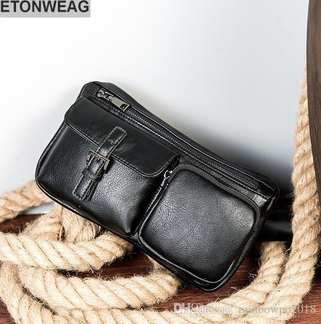 b50dc9e95f497 Factory Independent Brand Men Bag Summer New Leather Sports Waist ...
