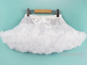 Girls Skirts Pink Red White Princess Lovely Tutu Skirt 1-8Y Kids Summer Skirt Children Candy Color Short Girls Skirt