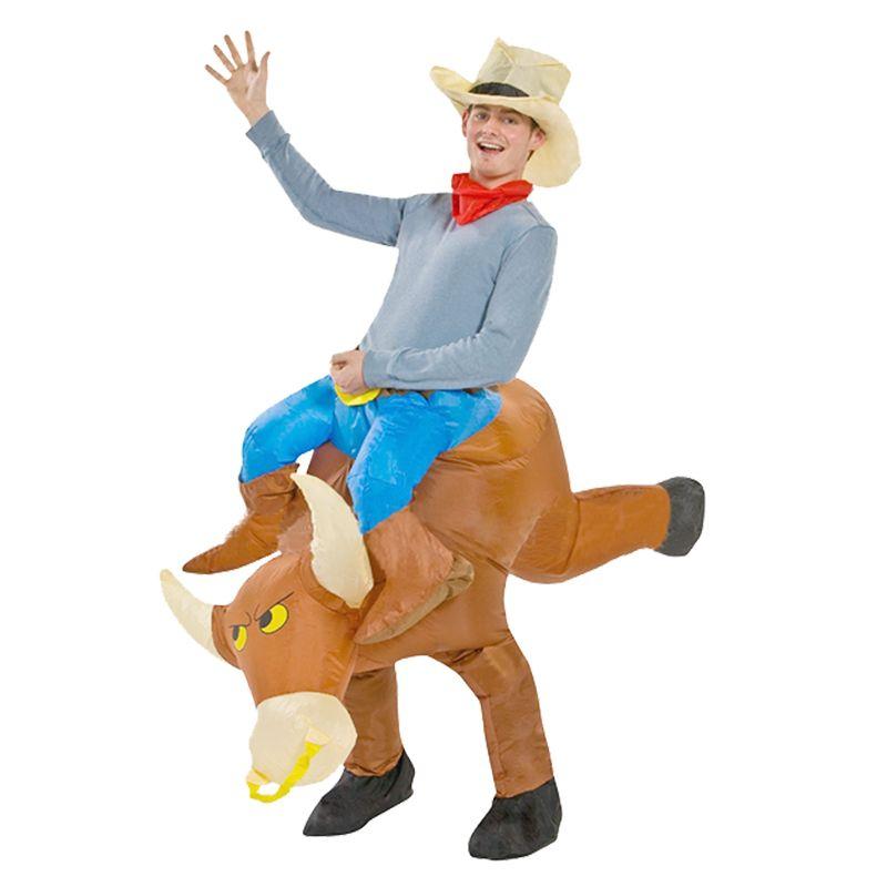 Mascota de Halloween del niño adulto Montar un toro inflable Bull disfraces disfraces para hombres niños Boy's Clothing LJ-019