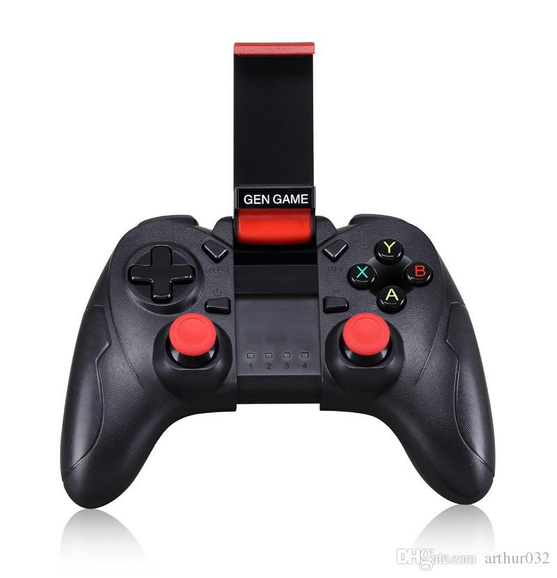 S6 Wireless Bluetooth Gamepad Joystick Game Pad Gaming Controller Remote Control With Holder For Samsung S9 Android Phone Android TV Box