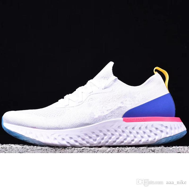 fd2bd0269fb4 Acheter Nike Flyknit Free Run Running Shoes 2018 Haute Qualité Epic React  Chaussures De Course Femmes Hommes Sneakers Sport Baskets Boost Épique React  Man ...