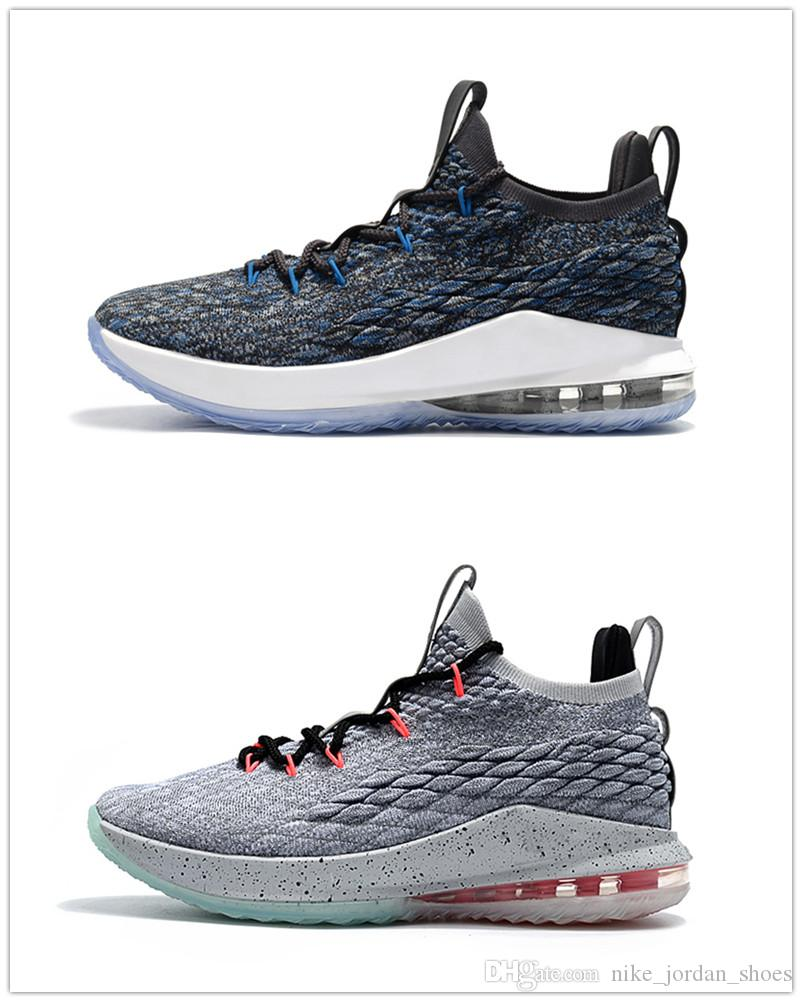f4b076b368ac ... best price 2018 2018 lebron 15 low signal blue flight pack basketball shoes  men james sneaker