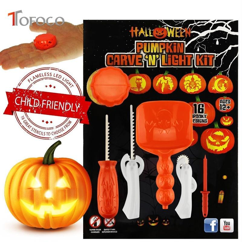 TOFOCO Funny Halloween Pumpkin Carving Tool Toys For Kids Adult DIY Patterns Toy Set Tools Online With 2515 Piece On