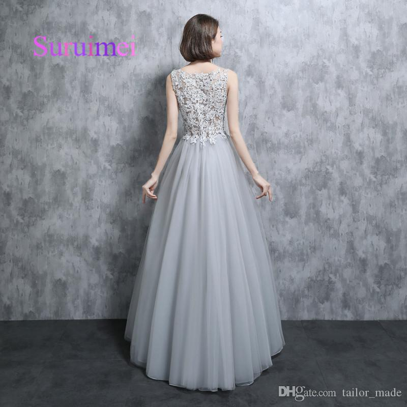 Real Samples 2019 A Line Scoop Prom Dresses Robe de Soiree Appliques Embellishment Formal Evening Gowns For Party Dress