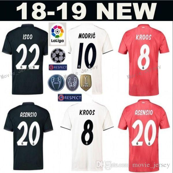 2019 FC Real Madrid La Liga Soccer 8 TONI KROOS Jersey Men 9 BENZEMA 12  MARCELO 17 VAZQUEZ 2 CARVAJAL Football Shirt Kits Uniform From  Movie jersey 714fb331e
