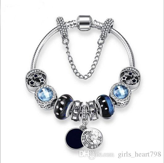 European Silver Charms Bead Pendant Fit 925 sterling Bracelet Chain Charm Gift Fashion Charms & Charm Bracelets