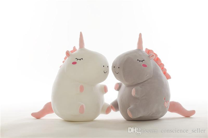2018 2018 hot sale unicorn plush toy fat unicorn doll cute animal stuffed soft pillow baby kids toys for girl birthday christmas gift from conscience seller