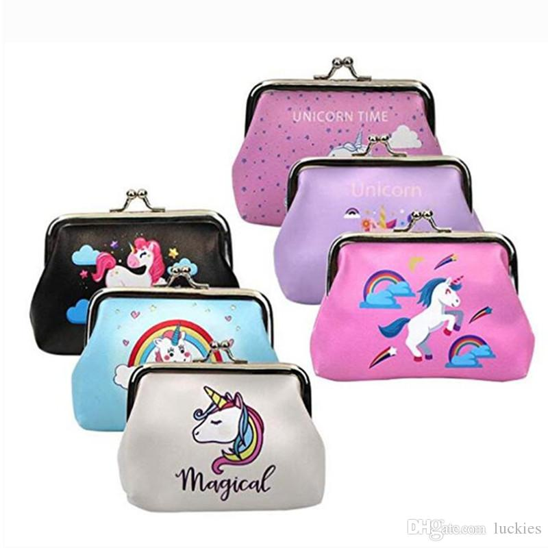 Creative Unicorn Laser Coin Bag Colorful Simple Purses Holder Money Pouch Kids Wallets Headset Storage Children Girl Mini Gift Coin Purses & Holders