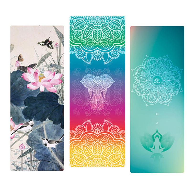 2018 Yoga Mat Natural Rubber 183 68cm 1 5mm Anti Slip Foldable Thin Exercise Mat For Fitness Pilates Gymnastic Dance Travel Yoga Pad From Baibuju