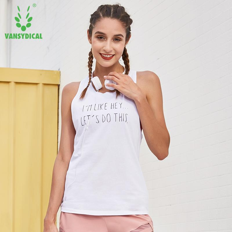 73ccd475e1596 Women s Letters Running Vests Sleeveless Fitness Gym Tops Loose Yoga ...