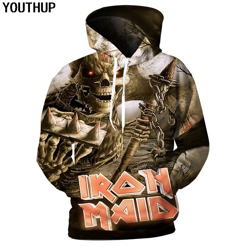 ... Iron Maiden Felpe Con Cappuccio Da Uomo Manica Lunga Con Cappuccio  Felpe Con Cappuccio Mostro 3D Stampa Cappotto Maschile Con Cappuccio Cool Hip  Hop ... cae176c7cc81
